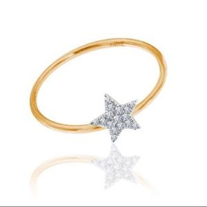 Meira T Rose Gold Diamond Star Ring 6.5